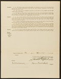 Baseball Collectibles:Others, 1925 Benjamin Paschal Signed Player Contract - Also Signed by BanJohnson and Jacob Ruppert....