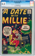 Silver Age (1956-1969):Romance, A Date With Millie #3 (Atlas, 1960) CGC VG+ 4.5 Off-white to whitepages....