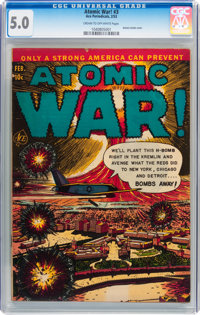 Atomic War! #3 (Ace, 1953) CGC VG/FN 5.0 Cream to off-white pages