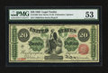 Large Size:Legal Tender Notes, Fr. 126b $20 1863 Legal Tender PMG About Uncirculated 53.. ...