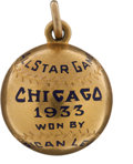 Baseball Collectibles:Others, 1933 All-Star Game Charm Presented to J. Louis Comiskey....