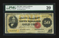 Large Size:Gold Certificates, Fr. 1196 $50 1882 Gold Certificate PMG Very Fine 20.. ...
