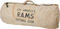 Football Collectibles:Others, 1950's Elroy Hirsch Los Angeles Rams Personal Equipment Bag....