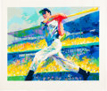 "Autographs:Others, 1990's ""The DiMaggio Cut"" Serigraph by LeRoy Neiman Signedby Artist & Subject...."