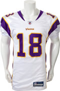 Football Collectibles:Uniforms, 2008 Sidney Rice Game Worn Unwashed Minnesota Vikings Jersey - Worn 10/19/08 Vs. Chicago....