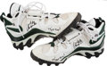 Football Collectibles:Others, Circa 1998 Antonio Freeman Game Worn, Signed Green Bay Packers Cleats....