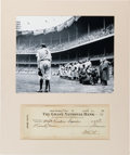 Autographs:Checks, 1946 Babe Ruth Signed Check....