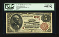 National Bank Notes:Tennessee, Nashville, TN - $5 1882 Brown Back Fr. 469 The Fourth NB Ch. #(S)1669. ...