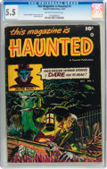 Golden Age (1938-1955):Horror, This Magazine Is Haunted #1 (Fawcett Publications, 1951) CGC FN-5.5 Off-white to white pages....