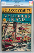 Golden Age (1938-1955):Adventure, Classic Comics #34 Mysterious Island - Original Edition (Gilberton,1947) CGC VF+ 8.5 Off-white to white pages....