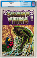 Bronze Age (1970-1979):Horror, Swamp Thing #1 (DC, 1972) CGC VF- 7.5 Off-white to white pages....