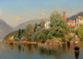 Paintings, HENRY PEMBER SMITH (American, 1854-1907). Villa, Lake Como. Oil on canvas. 20 x 28 inches (50.8 x 71.1 cm). Signed lower...