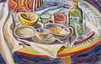 FREDERICK EMANUEL SHANE (American, 1906-1992) Still Life, 1930 Watercolor on paper 14 x 22 inches