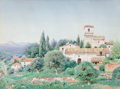 Fine Art - Work on Paper:Watercolor, HENRY PEMBER SMITH (American, 1854-1907). Spanish Villa II.Watercolor on paper. 24 x 32 inches (61.0 x 81.3 cm). Signed...