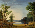 Fine Art - Painting, American:Antique  (Pre 1900), NELSON AUGUSTUS MOORE (American, 1824-1902). Sunday (In theForest), 1858. Oil on canvas. 29 x 36 inches (73.7 x 91.4 cm...