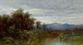 Fine Art - Painting, American:Antique  (Pre 1900), ALFRED THOMPSON BRICHER (American, 1837-1908). North Conway, NewHampshire, c. 1858. Oil on canvas. 10 x 18 inches (25.4...