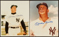 Autographs:Photos, Mickey Mantle Signed Photos Lot of 2. ...