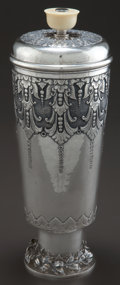 Silver Holloware, Continental:Holloware, A CONTINENTAL SILVER AND IVORY COVERED BEAKER . Maker unknown,circa 1880. Marks: 800. 12-7/8 inches high (32.8 cm). 28....