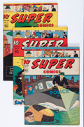 "Golden Age (1938-1955):Miscellaneous, Super Comics #76 and 78-80 Group - Davis Crippen (""D"" Copy) pedigree (Dell, 1944-45).... (Total: 4 Comic Books)"