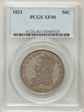Bust Half Dollars: , 1821 50C XF40 PCGS. PCGS Population (79/446). NGC Census: (27/422).Mintage: 1,305,797. Numismedia Wsl. Price for problem f...