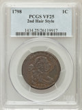 Large Cents, 1798 1C Second Hair Style VF25 PCGS. S-179, B-37, R.2....