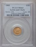 Commemorative Gold, 1905 G$1 Lewis and Clark MS63 PCGS....