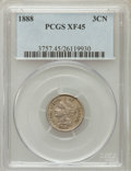Three Cent Nickels: , 1888 3CN XF45 PCGS. PCGS Population (33/324). NGC Census: (7/237).Mintage: 36,500. Numismedia Wsl. Price for problem free ...