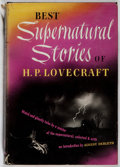 Books:Horror & Supernatural, H. P. Lovecraft. Best Supernatural Stories of H. P. Lovecraft. Cleveland: World Publishing, [1945]. Second printing....