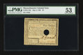 Colonial Notes:Massachusetts, Massachusetts May 5, 1780 $5 PMG About Uncirculated 53.. ...