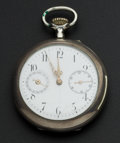 Timepieces:Pocket (pre 1900) , Swiss Silver Quarter Hour Repeater With Calendar. ...