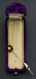 Estate Jewelry:Stick Pins and Hat Pins, Diamond & Onyx Gold Stickpin. ...