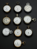 Timepieces:Pocket (post 1900), A Lot Of Ten 18 Size U.S. Pocket Watches. ... (Total: 10 Items)