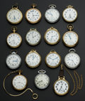 Timepieces:Pocket (post 1900), A Lot Of Fifteen Railroad Grade Pocket Watches Including 23 JewelVanguard. ... (Total: 15 Items)