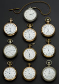 Timepieces:Pocket (post 1900), A Lot Of Ten 18 Size Pocket Watches. ... (Total: 10 Items)
