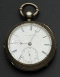 Timepieces:Pocket (pre 1900) , United States Watch Co. George Channing Key Wind With Butterfly Cut Out. ...