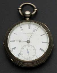 United States Watch Co. George Channing Key Wind With Butterfly Cut Out
