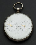 Timepieces:Pocket (pre 1900) , Swiss Two Train Captains Watch For Parts. ...