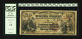National Bank Notes:Pennsylvania, Pittsburgh, PA - $20 1882 Brown Back Fr. 494 The Tradesmens NB Ch.# 678. ...