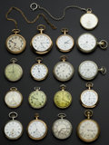 Timepieces:Pocket (post 1900), A Lot Of Seventeen U.S. Pocket Watches. ... (Total: 17 Items)