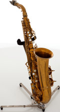Musical Instruments:Horns & Wind Instruments, C.G. Conn Naked Lady Brass Alto Saxophone, Serial # M261578A....