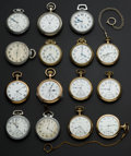 Timepieces:Pocket (post 1900), A Lot Of Fifteen U.S. Pocket Watches. ... (Total: 15 Items)