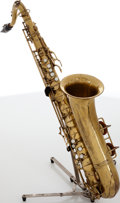 Musical Instruments:Horns & Wind Instruments, 1942 C.G. Conn 10M Naked Lady Brass Tenor Saxophone, Serial # 334204....