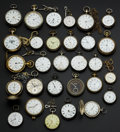 Timepieces:Pocket (pre 1900) , A Lot Of Fifty Swiss Pocket Watches. ... (Total: 50 Items)