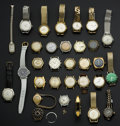 Timepieces:Wristwatch, Seventy Five Wristwatches For Parts Or Repair. ... (Total: 75Items)