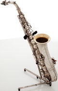 Musical Instruments:Horns & Wind Instruments, 1923 C.G. Conn Silver Melody Saxophone, Serial # 140761....