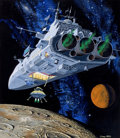 Mainstream Illustration, DEAN ELLIS (American, 1920-2009). Space Fantasy Painting #6,United States First Day Cover Society, 1998. Gouache on boa...