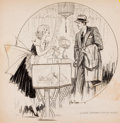 "Mainstream Illustration, RAEBURN VAN BUREN (American, 1891-1987). ""Is There Anything YouWish?"", story illustration, 1933. Charcoal pencil on boa..."