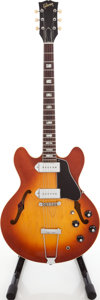 Musical Instruments:Electric Guitars, 1972 Gibson ES-330TD Sunburst Semi-Hollow Body Electric Guitar,Serial # 757327....