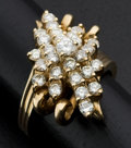 Estate Jewelry:Rings, Dramatic Diamond & Gold Cocktail Ring. ...