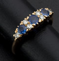 Estate Jewelry:Rings, Diamond & Sapphire Gold Ring. ...